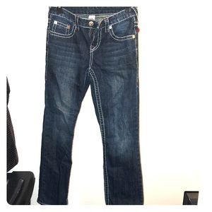 Size boys 14 true religion jeans thick stitch